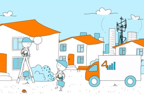 2D рекламный видеоролик с персонажной анимаций от студии Инфомульт для компании 4 палки
